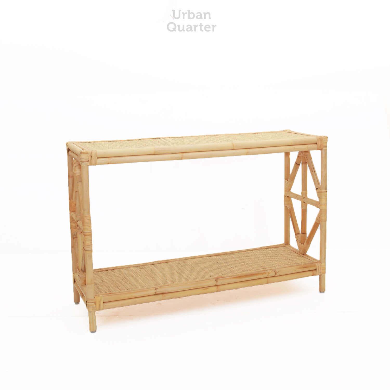 Serrano Rattan Console Table